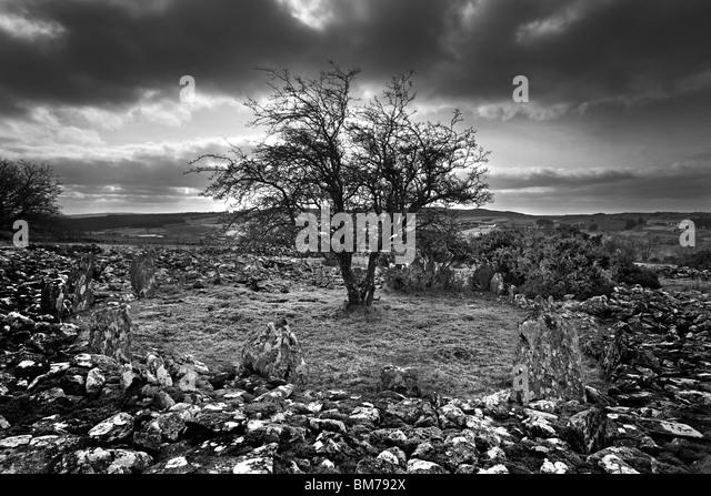 Dun Ruadh Cairn in Co Tyrone, Nordirland. Stockbild