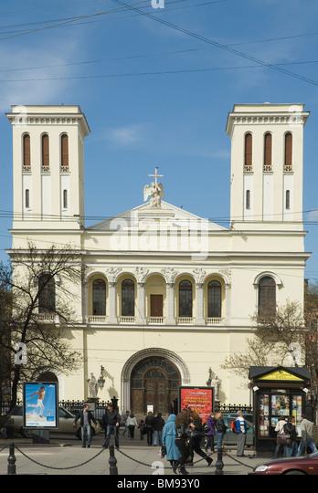 Katholiken Kirche in Sankt Petersburg. Russland Stockbild
