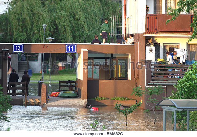 Flut in Wroclaw, Polen /May 2010 / Stockbild