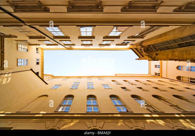 Dächer und Himmel. Stadt Wien in Österreich. Stockbild