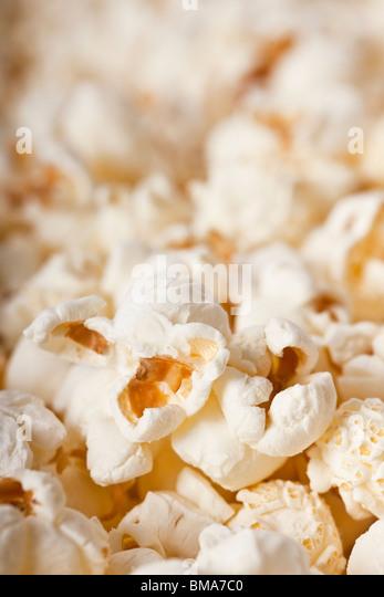 Nahaufnahme von frisches Popcorn - selektiven Fokus Stockbild