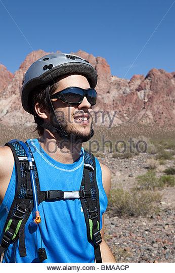 Mountainbiker Stockbild
