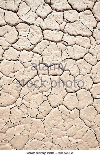 Oberfläche des Salzpfanne geknackt Stockbild