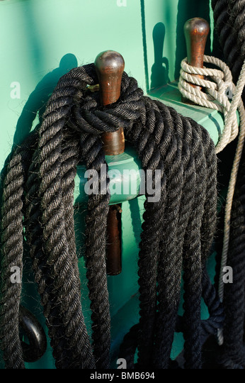 Gewickelte Seil Stockbild