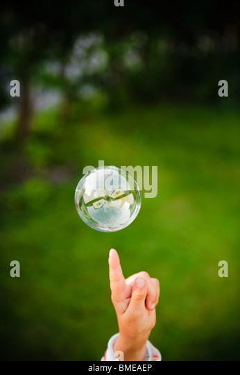 Eine Seifenblase, Schweden. Stockbild