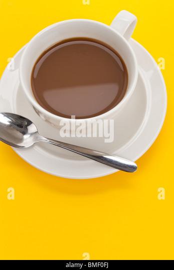 Kaffee-Obertasse Nahaufnahme Schuss Stockbild