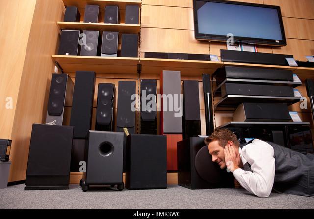 Überprüfen die sound-Systeme Stockbild