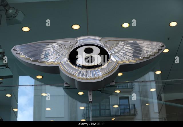 Das Bentley Auto Emblem Berlin Deutschland Deutschland Europa Stockbild