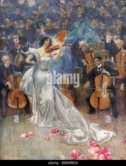 Violinkonzert Stockbild
