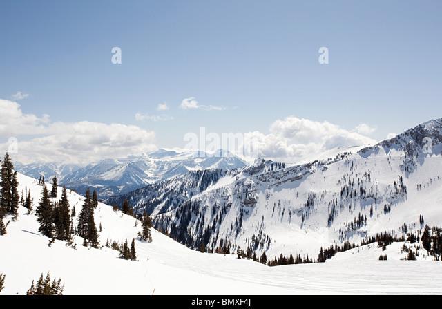 Skigebiet in Utah, usa Stockbild