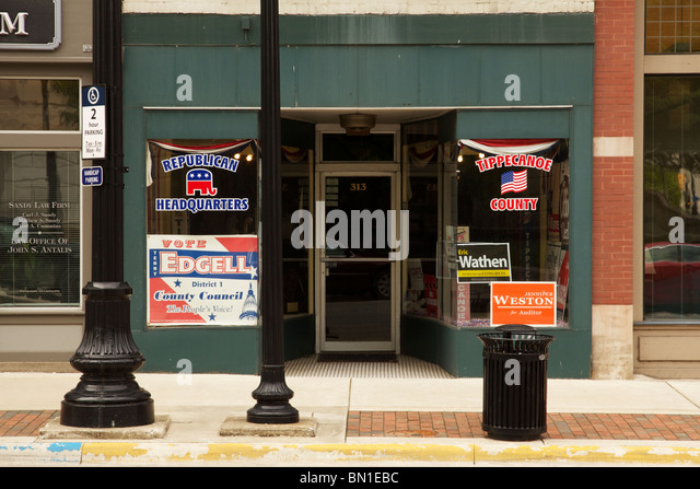 Sitz der Republikanischen Partei. Lafayette, Indiana. Tippecanoe County. Stockbild