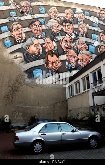 Städtischen Wandmalerei Graffiti von Christian 'See' Wahle und Gino Fuchs Berlin Deutschland Deutschland Stockbild