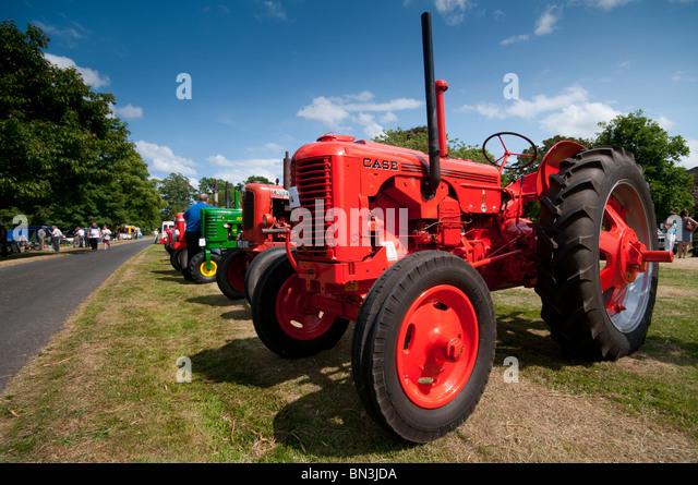 Oldtimer-Traktor-Rallye im Paxton House Stockbild