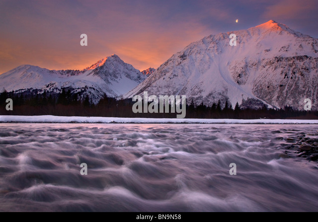 Resurrection River, Seward, Alaska. Stockbild