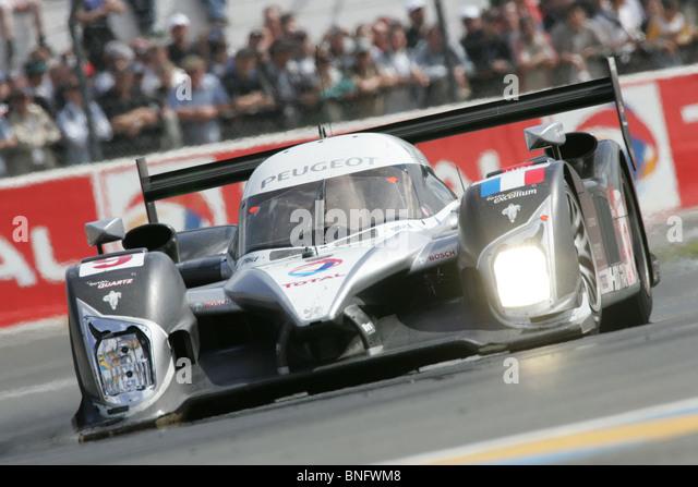 Peugeot LMP1-Sportwagen-Le Mans 24 Stunden. Stockbild