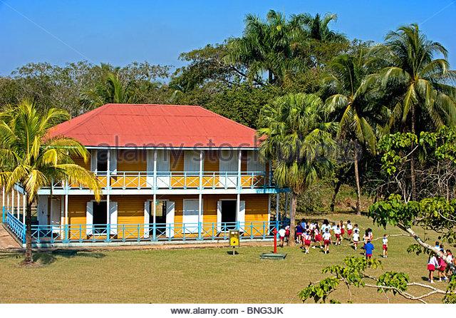 Weiler gehören zur Familie Castro, wo Fidel geboren wurde; Hier Schulen das Hotel heute ein Wallfahrtsort für. Stockbild