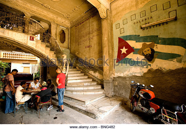 La Guarida, Havanna, Kuba Stockbild