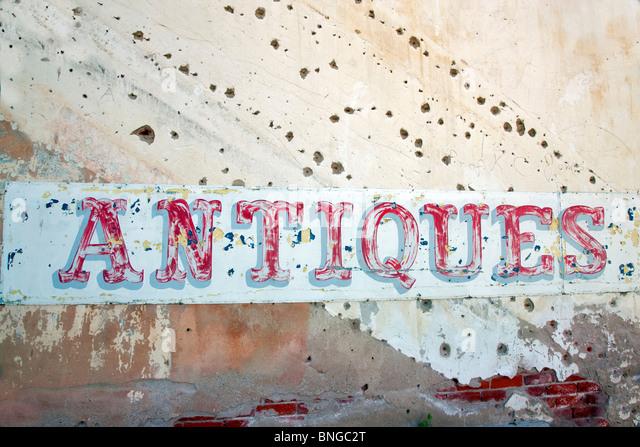 Antiken Zeichen. Palouse, Washington. Stockbild