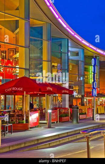 Liverpool One Shopping Mall Komplex Liverpool England UK in der Dämmerung Stockbild