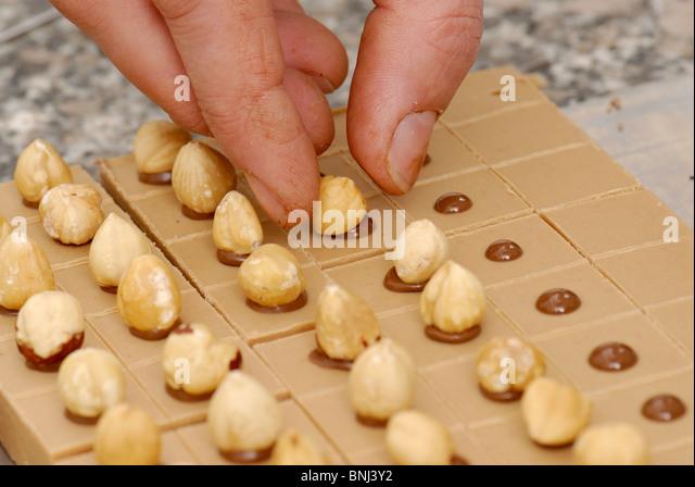 Schokoladen-Herstellung Stockbild