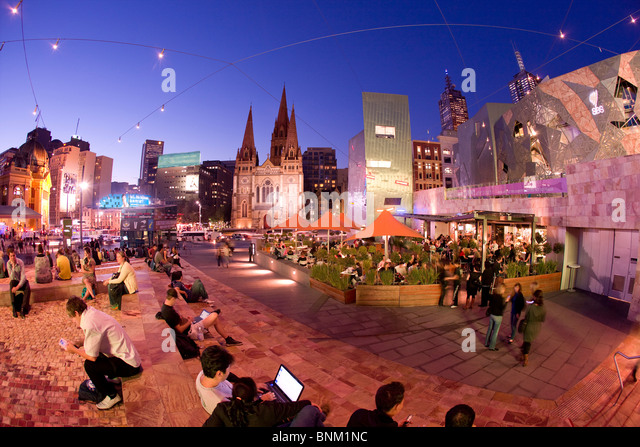 Federation Square, Melbourne Stockbild
