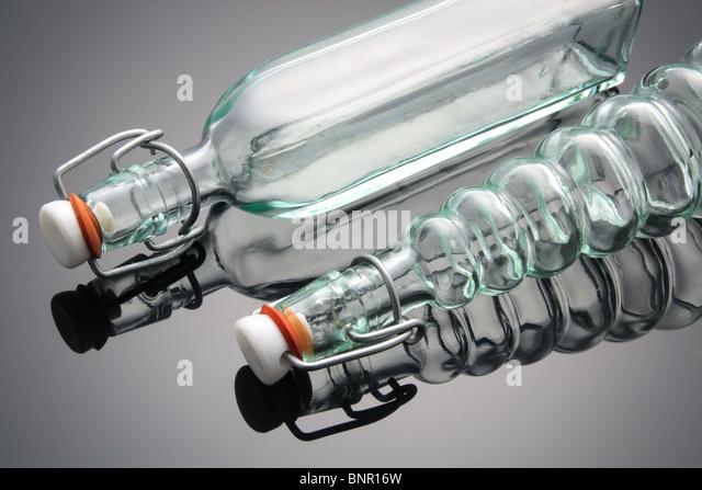 Glas-Flaschen Stockbild