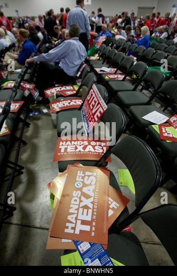 Die Delegierten bei der halbjährlichen Texas Republican Convention in Dallas, Texas Stockbild