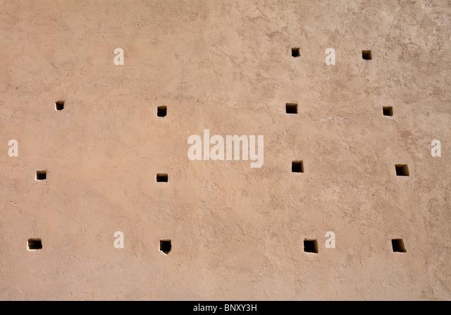 Zinn-Mal Moschee, Marokko, Detail der Außenwand Stockbild