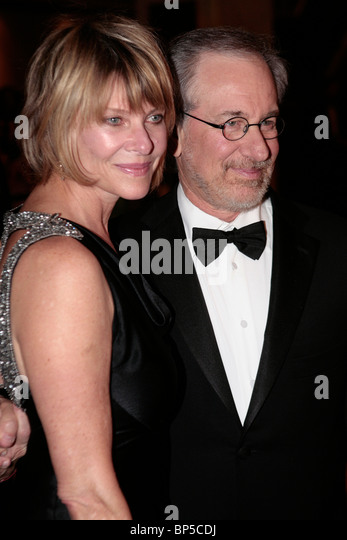 Steven Allan Spielberg und Frau Kate Capshaw. Stockbild