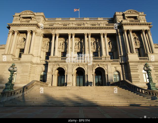 Außentür in der Library of Congress in Washington DC. Stockbild
