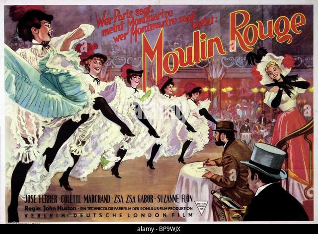 FILM POSTER MOULIN ROUGE (1952) Stockbild