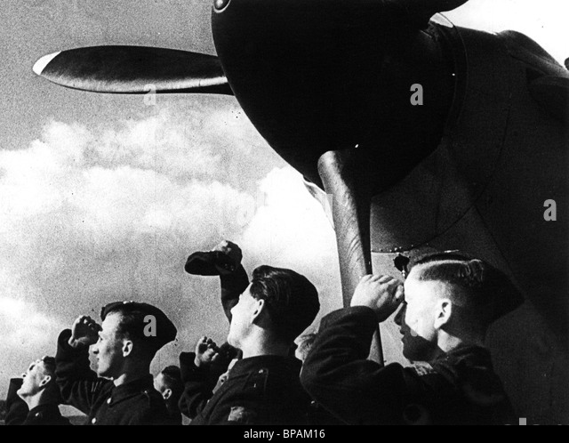 BRITISCHE FLIEGER SZENE WÖRTER FÜR SCHLACHT (1941) Stockbild