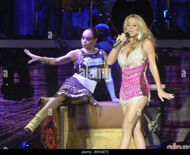 Konzert von Mariah Cary in Moskau Stockbild
