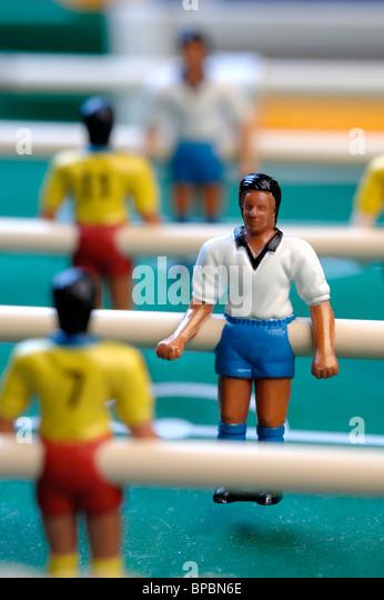 Tabelle-Football-Spieler Stockbild
