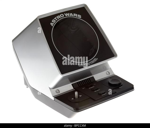 Vintage Astro Wars Retro-elektronische Videospiel von Tribüne Stockbild