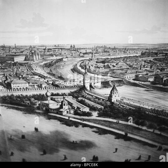 Moskau, 19. Jahrhundert Stockbild