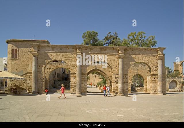 Venezianischen Palast, Famagusta, Nordzypern Stockbild