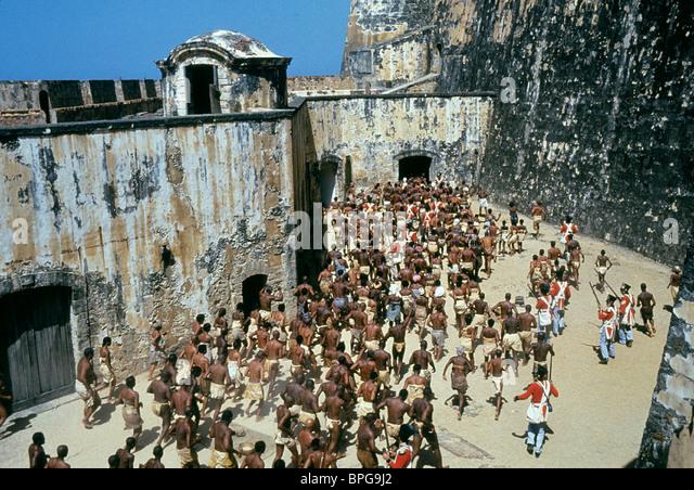 SLAVE-SZENE AMISTAD (1997) Stockbild