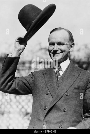 Vintage Foto ca. 1924 von Calvin Coolidge (1872-1933) - der 30. US-Präsident (1923-1929). Stockbild