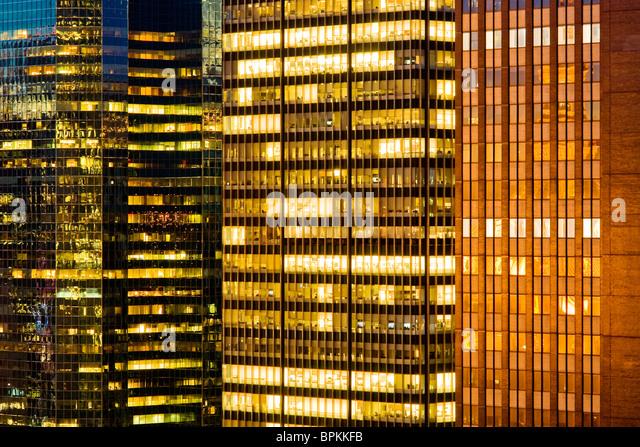 Wolkenkratzer Windows Details Stockbild