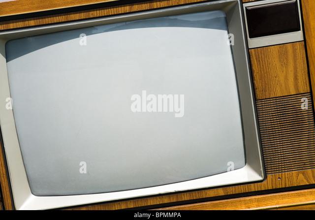 Altmodischen Fernsehen hautnah Stockbild