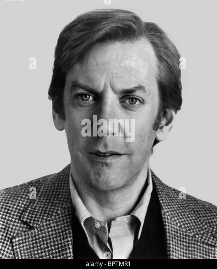 DONALD SUTHERLAND SCHAUSPIELER (1980) Stockbild