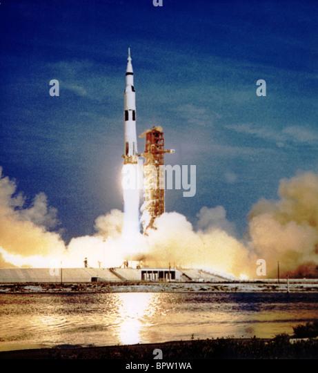 SATURN-RAKETE PRODUKTEINFÜHRUNG APOLLO 11 (1969) Stockbild