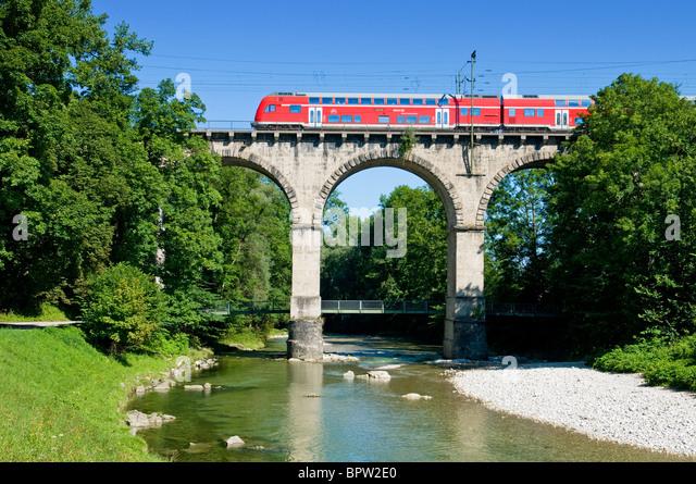 Viadukt bei Traunstein Stockbild