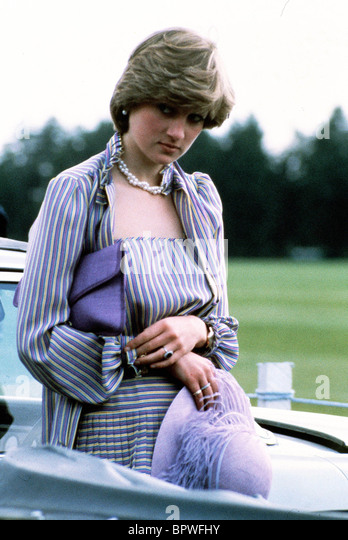 Prinzessin DIANA PRINCESS OF WALES 1. Juni 1981 Stockbild