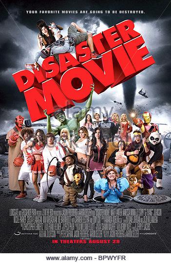 FILM POSTER DISASTER MOVIE (2008) Stockbild