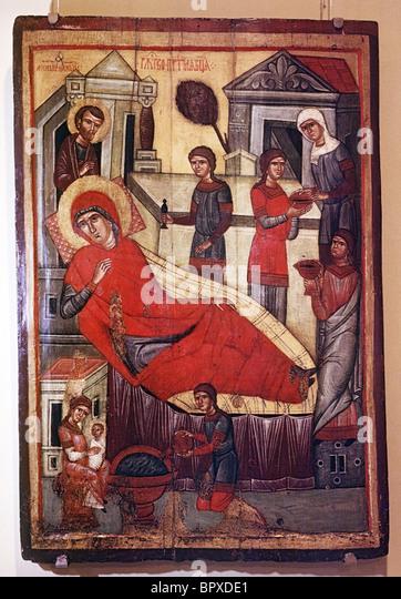 Ausstellung von antiken Gemälden von Tver, 1969 Stockbild
