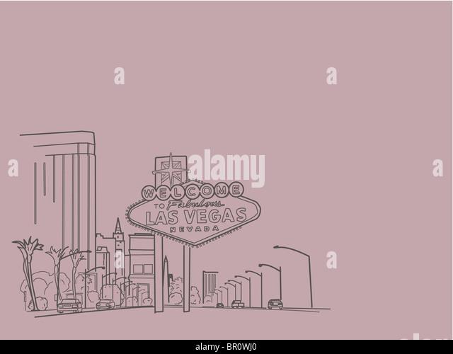 Eine Abbildung der Stadt Las vegas Stockbild