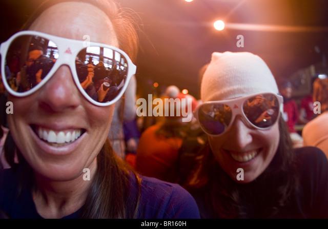 Frauen in der bar, Jackson Hole, Wyoming Stockbild