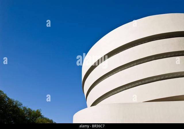 Das Guggenheim Museum, New York City. Frank Lloyd Wright, Architekt. Stockbild